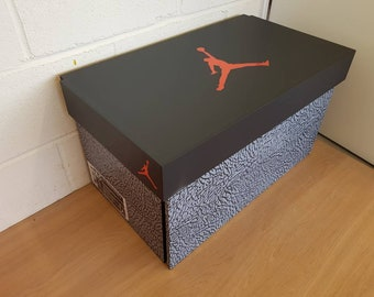 XL Trainer Storage Box, Nike Giant Sneaker Shoe Box (fits 6 8no Pairs Of  Trainers), Gift For Him, Birthday Present, Gift, Present, Handmade