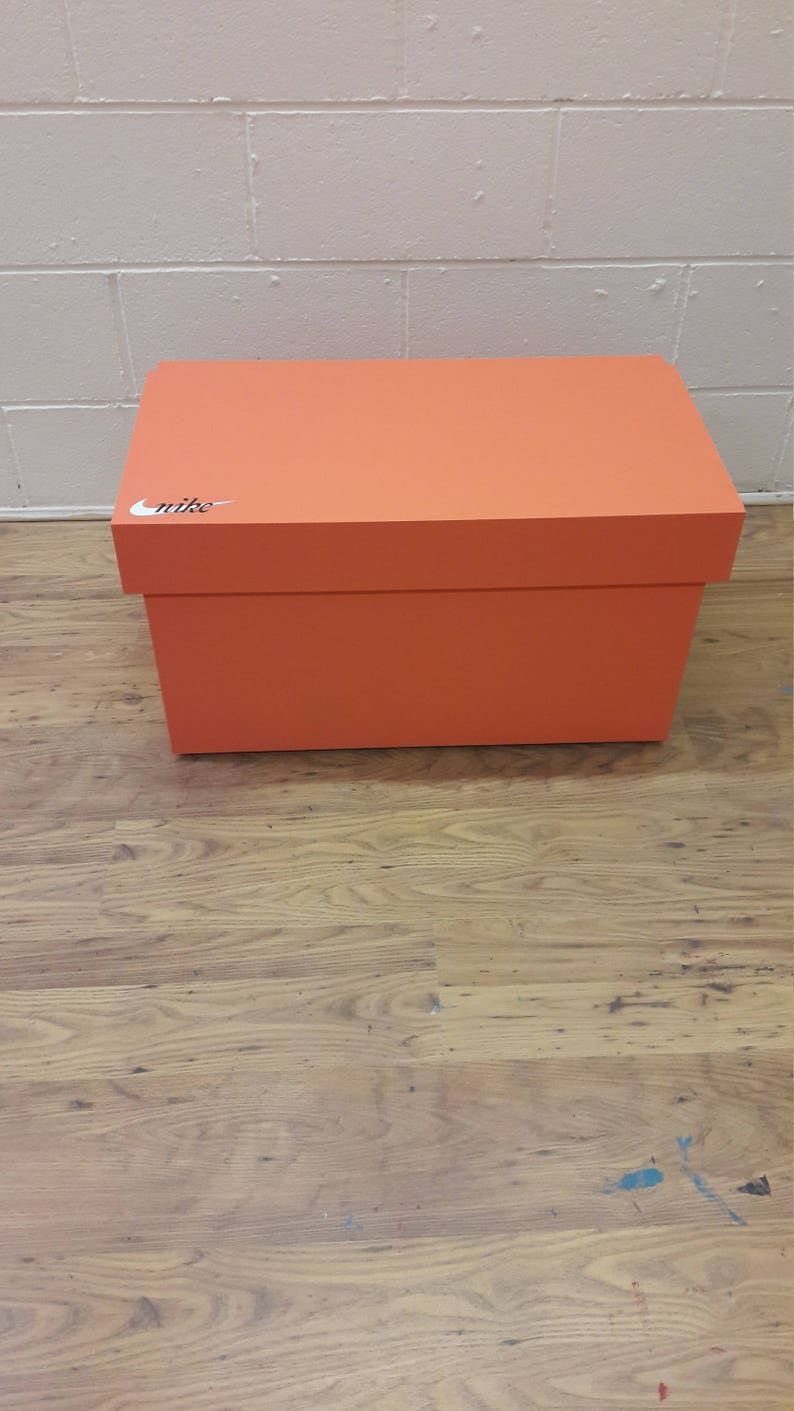 cdac41a8699dd XL Giant Trainer Shoe Storage Box, Nike Giant Sneaker Box (fits 6-8no pairs  of trainers), gift for him, birthday present, gift, present,