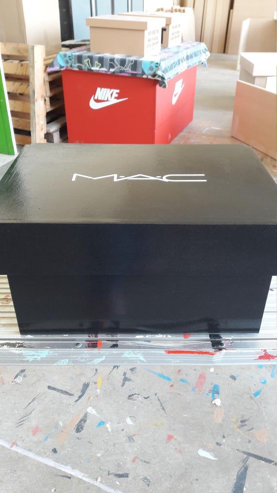 make up storage box hi gloss finished mac inspired storage etsy