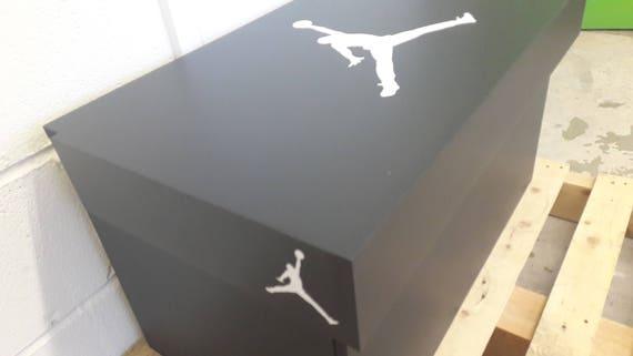 Boîte de rangement XL Trainer, boîte à chaussures géant Sneaker Nike (convient à 6 8no paires de formateurs), cadeau pour lui, cadeau d'anniversaire,