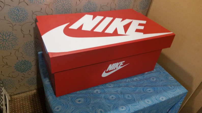 f6f9f5896c486 XL Trainer Shoe Storage Box, Nike Giant Sneaker Box (fits 6-8no pairs of  trainers), gift for him, birthday present, gift, present, storage