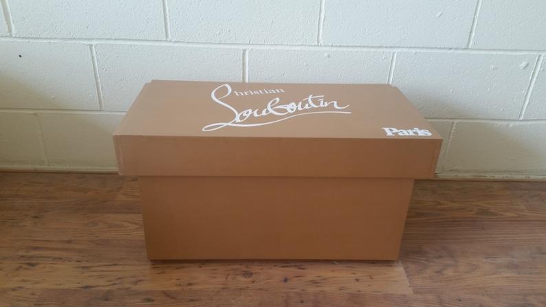 pas cher pour réduction c83db b36fe Boîte de rangement pour chaussures géant XL, Christian Louboutin chaussures  boîte géante, (convient à 6-8no paires de chaussures), cadeau pour elle, ...