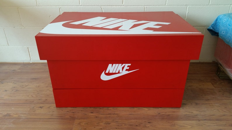 a345ad3118b69 XL / Giant Trainer / Sneaker Storage Boxes, Nike (to fit 24+no pairs of  trainers), gift for him, birthday present, handmade, personalised