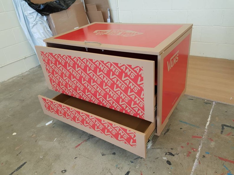 XL / Giant Trainer / Sneaker Shoe Storage Boxes, Vans (to Fit 24+no Pairs  Of Trainers), Gift For Him, Birthday Present, Handmade, Storage