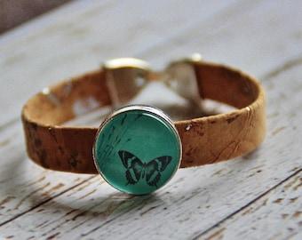 Cork Bracelet and Butterfly bracelet