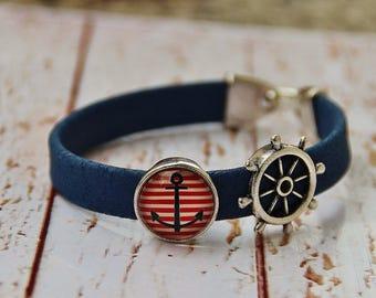 Bracelet made of cork and mandala Cork Bracelet