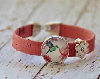 Cork bracelet and glass cork bracelet