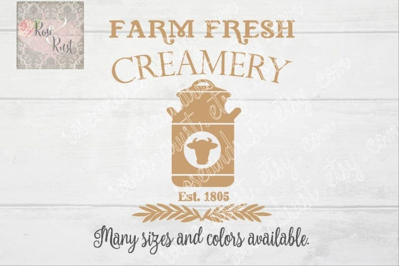 Farmer/'s Market Decal Farm Decal Dairy Cow Decal Rustic Sign Decal Fresh Milk Decal Farm Fresh Creamery Decal Country Decals