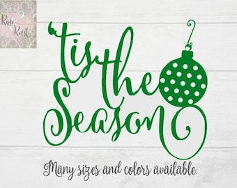 Tis the Season Decal, Christmas Decal, Holiday Decal, Window Decal, Christmas Sign Decal, Christmas Gift, Christmas Decor