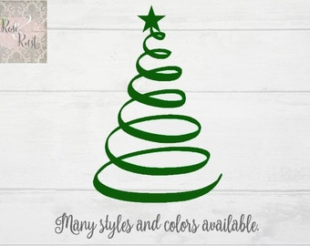Christmas Tree Decal, Christmas Decal, Holiday Decal, Window Decal, Christmas Sign Decal, Christmas Gift, Christmas Decor, Holiday Decor