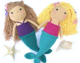Crochet Mermaid Pattern, Amigurumi Mermaid Pattern, Crochet Mermaid Doll Pattern, Crochet Toy Pattern, Crochet Doll Pattern, Crochet PDF