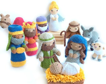 Crochet Nativity Pattern, Amigurumi Nativity Pattern, Christmas Crochet Pattern, Amigurumi Christmas Pattern, Nativity Set, Nativity Craft