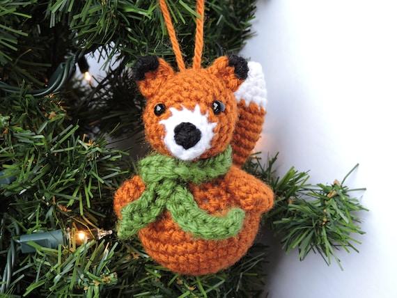 Crochet Christmas Ornaments Patterns.Crochet Christmas Ornament Pattern Woodland Animal Crochet Pattern Crochet Christmas Pattern Amigurumi Christmas Pattern Animal Ornament