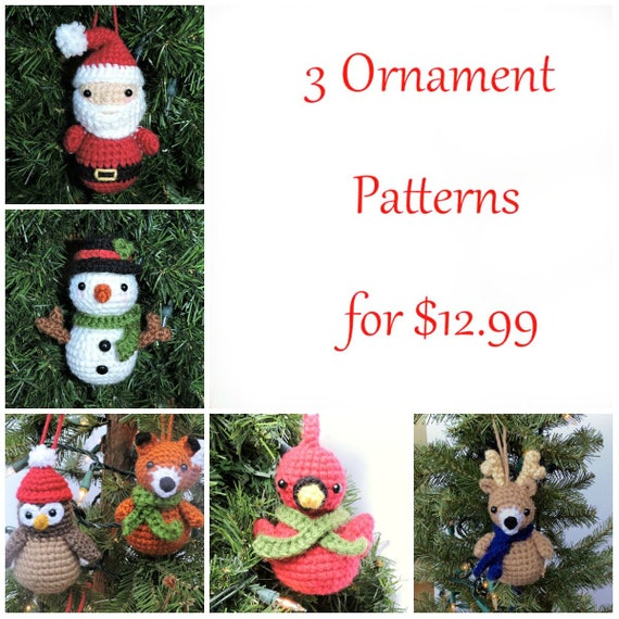 Crochet Christmas Pattern Pack Christmas Amigurumi Set | Etsy