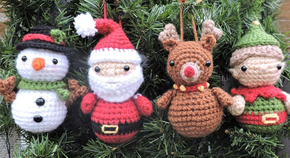 Christmas Crochet Pattern Christmas Ornament Crochet Pattern | Etsy