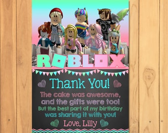 Lilly On Twitter Please Send Me Links To Your Roblox - Girl Roblox Invitation Pink Roblox Birthday Party Roblox Etsy