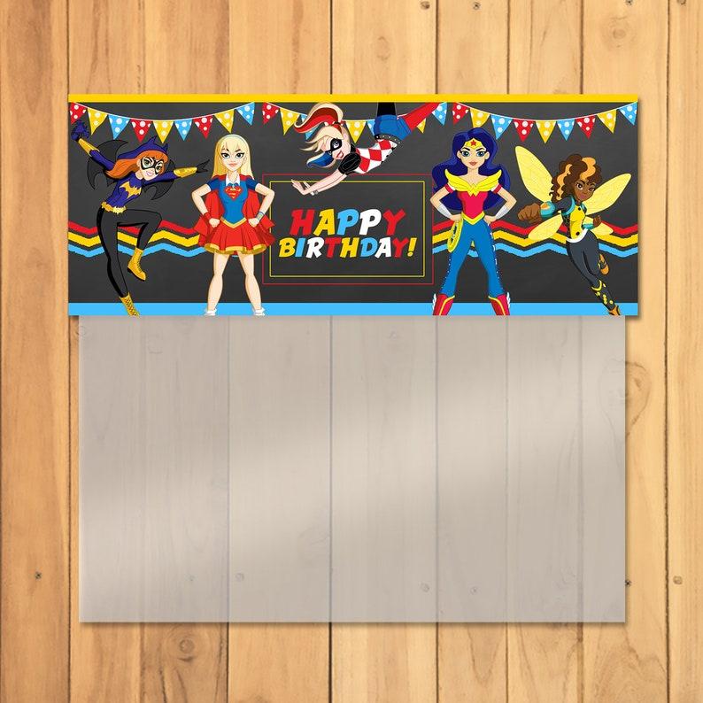 DC Superhero Girls Candy Bag Topper - DC Superhero Girls Ziptop Bag Top - DC Superhero Girls Favors - Dc Superhero Girls Birthday - 100695