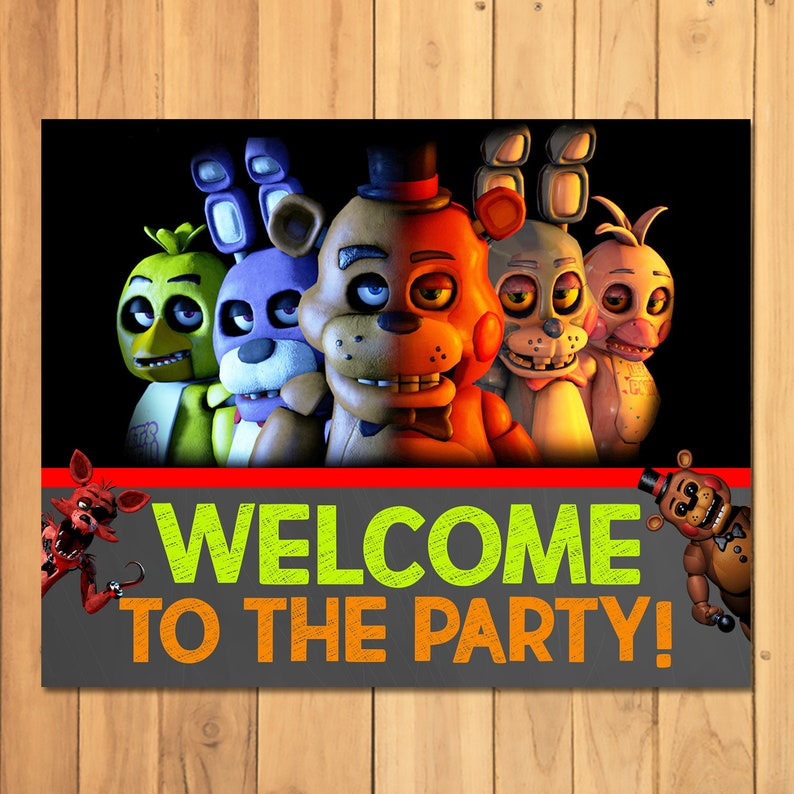 Birthday Welcome Nights Fnaf The Party To Sign Video 5 At 100817 Freddy's Five Game 4AjR35qcL