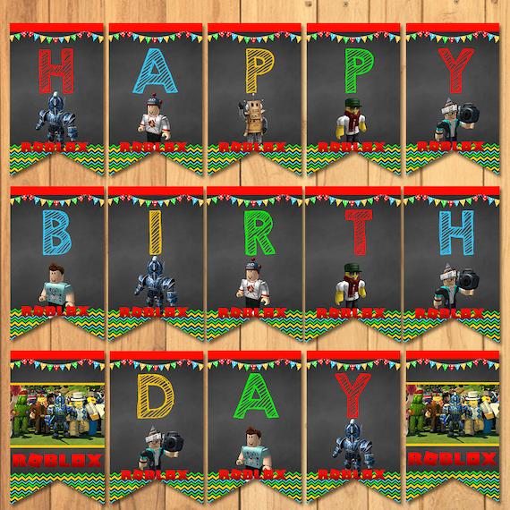 Roblox Happy Birthday Banner Chalkboard Roblox Birthday