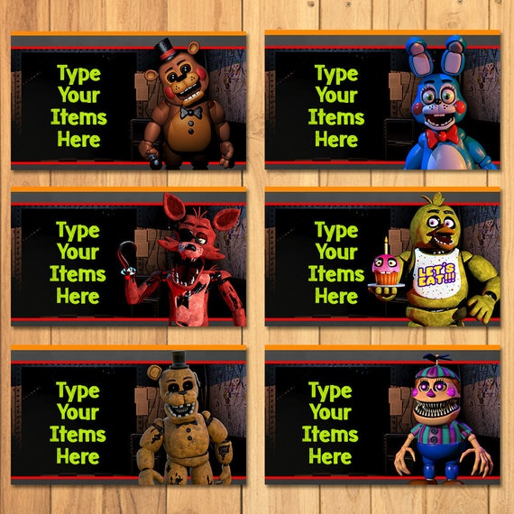 Five Nights At Freddy S Food Tents FNAF Birthday Party Etsy