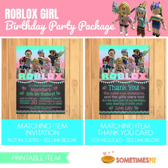 Lilly On Twitter Please Send Me Links To Your Roblox - Girl Roblox Birthday Party Package Pink Roblox Birthday Etsy