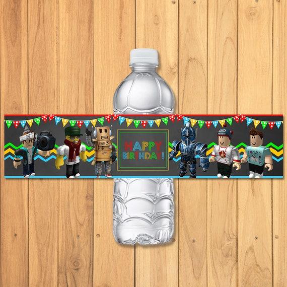 Roblox Drink Label Chalkboard Roblox Water Bottle Label Etsy