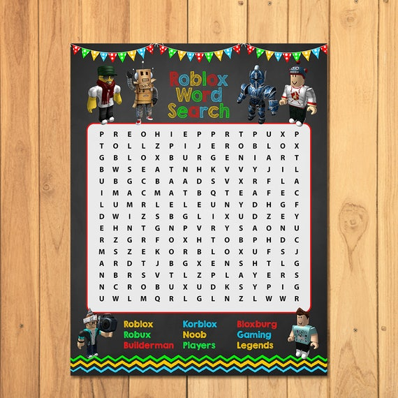 Roblox Party Game Word Search Chalkboard Roblox Party Game