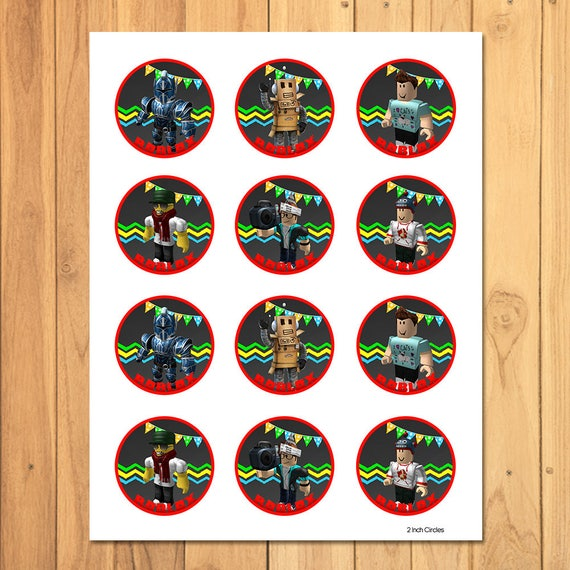 Roblox Cupcake Toppers Roblox Stickers Roblox Party Favors Roblox Cupcake Toppers Cake Top Roblox Birthday Party Favors 100694 - roblox music codes unforgettable roblox free backpack