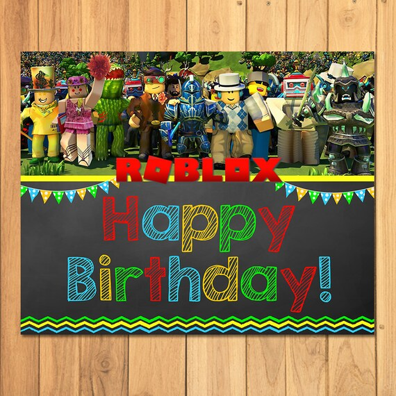 Roblox Happy Birthday Sign Chalkboard Party