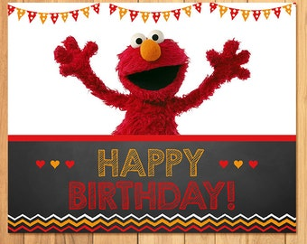 Elmo Birthday Sign Chalkboard * Elmo Birthday * Elmo Sign * Elmo Favors * Elmo  Party