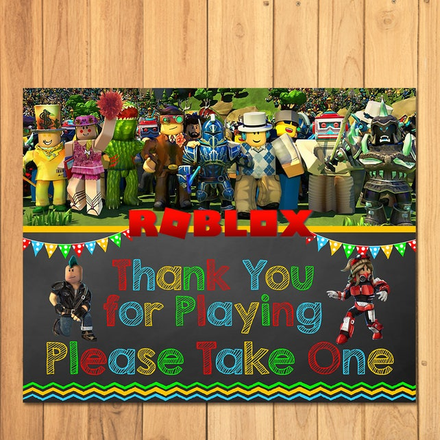 Roblox Favor Table Sign Chalkboard