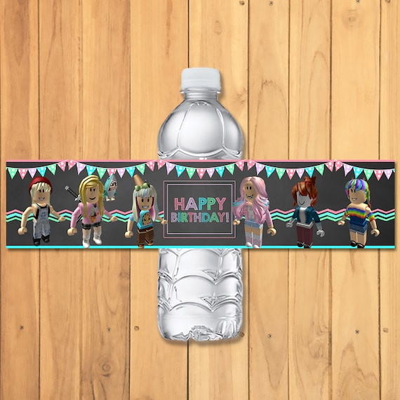 Girl Roblox Drink Label * Pink Roblox Birthday Party * Roblox Party Favors * Roblox Water Bottle Label Girls * Roblox Birthday Party 100926