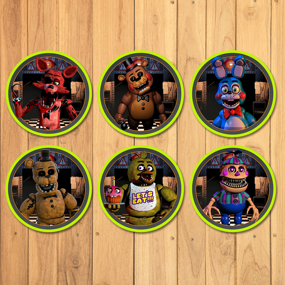 Five Nights at Freddy's Cupcake Toppers FNAF Birthday | Etsy