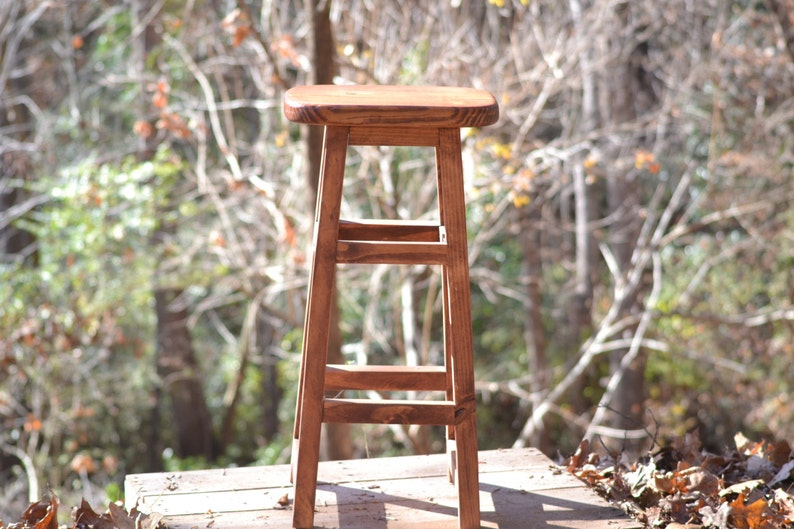 Awe Inspiring Wood Barstool 30 Rustic Barstool Wooden Bar Stools Rustic Kitchen Counter Stools Pdpeps Interior Chair Design Pdpepsorg