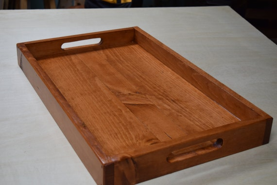 Amazing Wooden Serving Tray Ottoman Tray Breakfast Serving Tray Rustic Wooden Tray Wooden Lap Serving Tray Dailytribune Chair Design For Home Dailytribuneorg