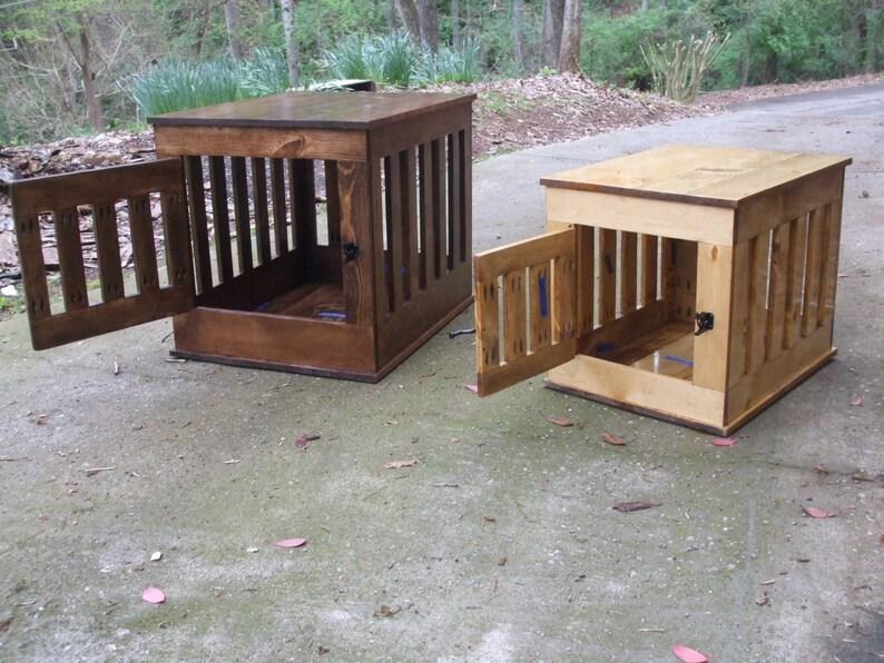 Dog Crate FurnitureDog Crate End Table Wooden Dog Kennel image 0