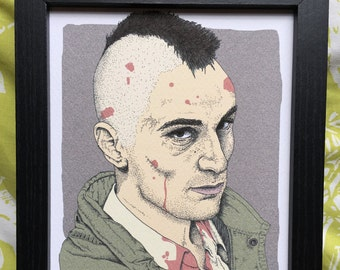 Taxi Driver Travis Bickle Martin Scorsese Movie Film Illustration Art Print