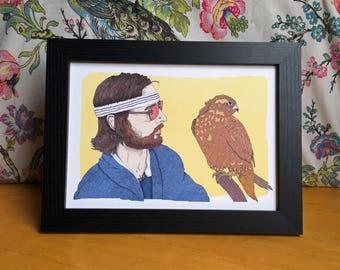 Richie Tenenbaum The Royal Tenenbaums Wes Anderson Illustration Art Print