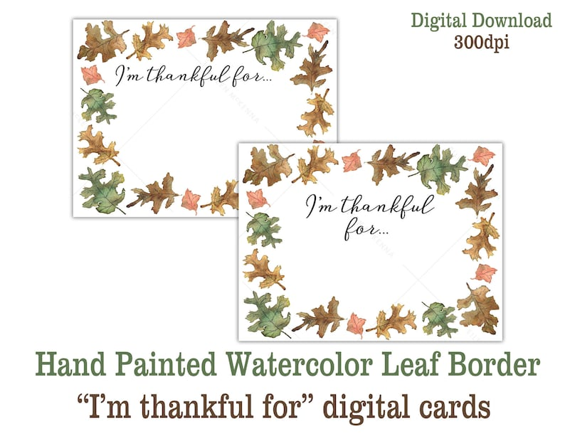 Printable Thanksgiving Table Activity Gratitude Cards Digital image 0