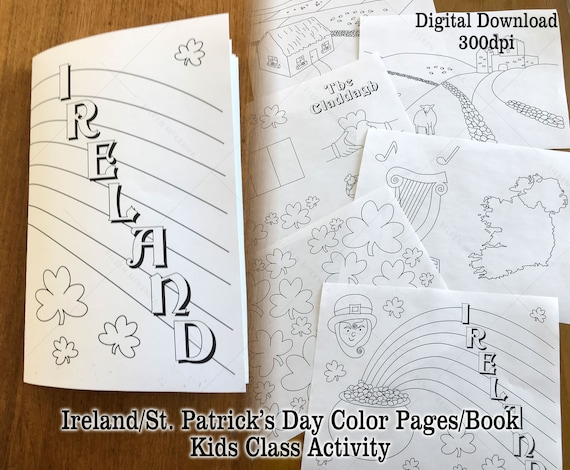 - Printable Ireland St. Patrick's Day Coloring Pages Make A Etsy