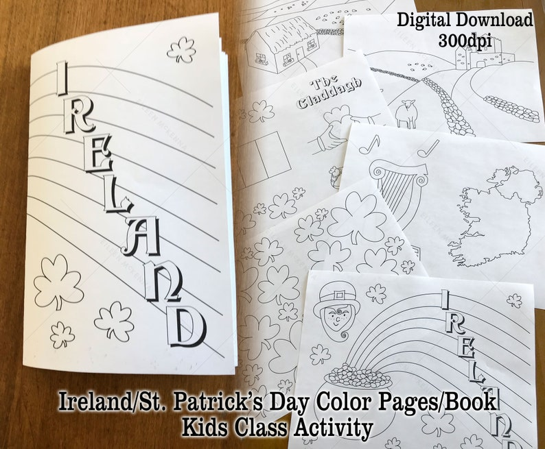 Printable Ireland St. Patrick's Day Coloring Pages make a image 0