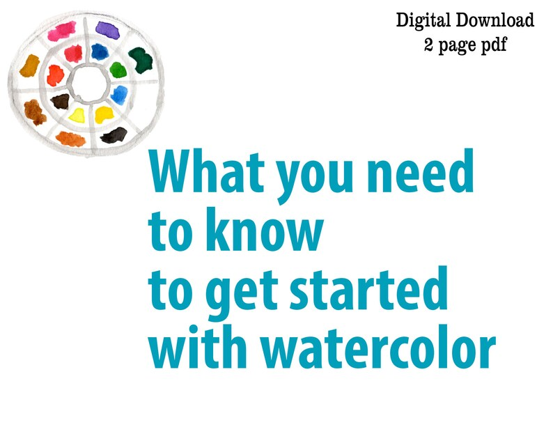 Beginner Watercolor Painting Instructional PDF What you image 0