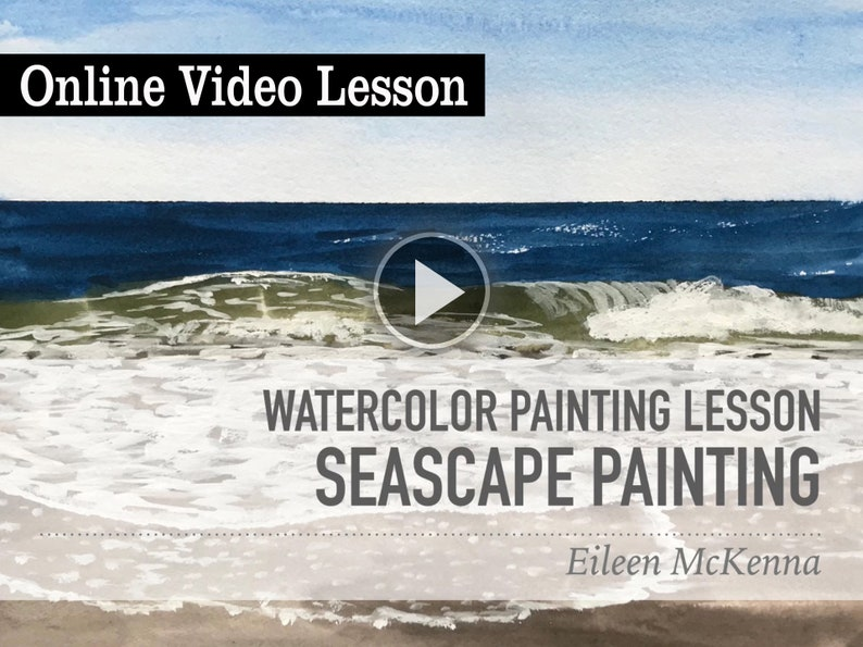 Watercolor Seascape Online Video Painting Lesson  Learn how image 0