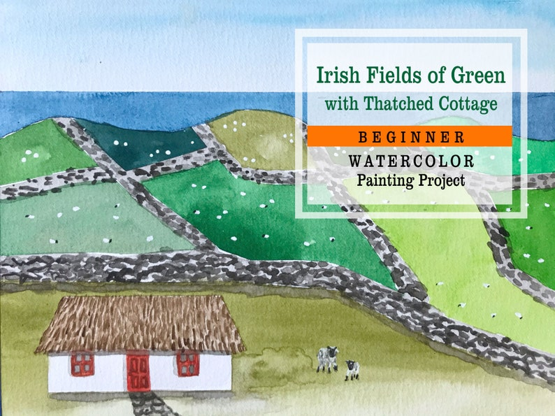 St. Patrick's Day Art Project Irish Fields of Green image 0