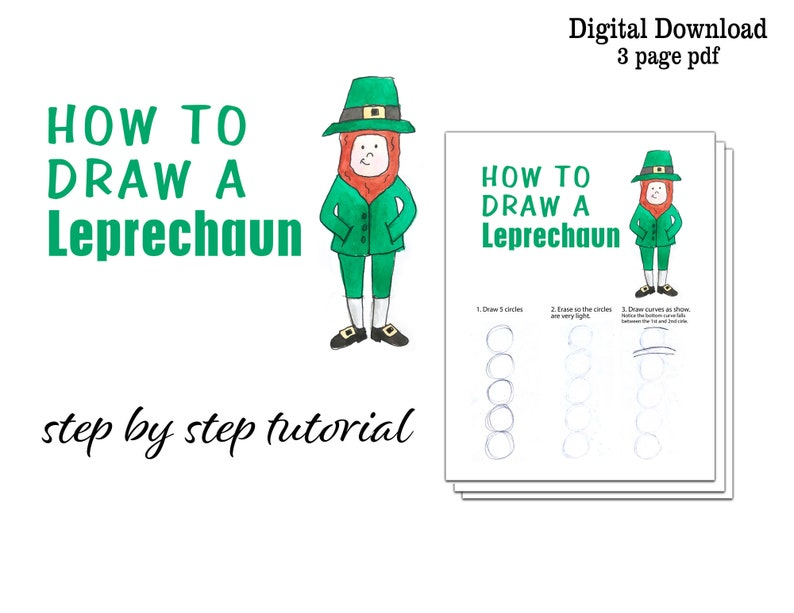 How to Draw a Leprechaun  Kids St. Patrick's Day Activity image 0
