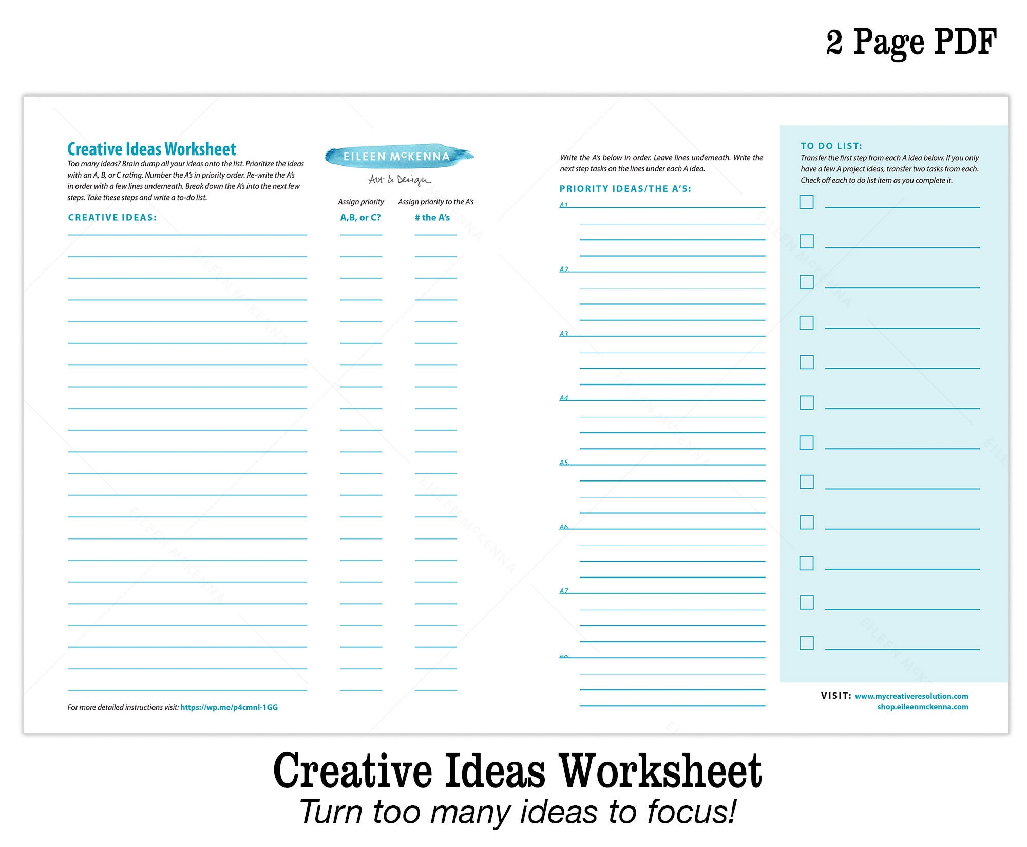 photo about Full Focus Planner Pdf known as Resourceful Suggestions Printable Worksheet How in direction of Notice with Way too Countless Suggestions Electronic Artistic Planner PDF Worksheet