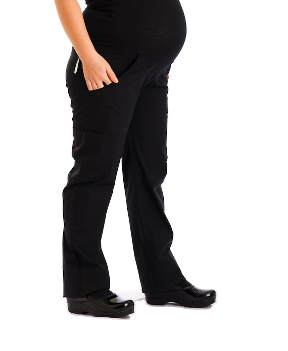 Christina Maternity Pants Have A Comfortable Tummy Panel That Etsy