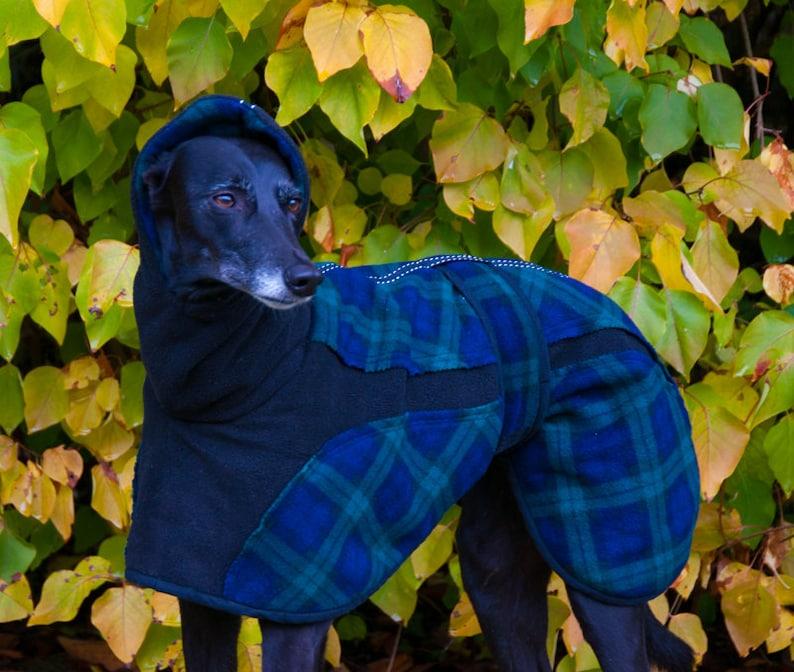 Whippet Fleece Coat Greyhound Fleece Fleece Dog coat image 0