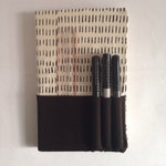 Classic Moleskine Notebook Cover Cotton Canvas Hand Silk-screen Print Handmade Hairy pattern
