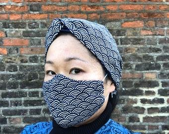 Japanese cotton turban headband